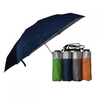 UMB0118 – 5 Folds/Section Silver Coated Manual Open Foldable Umbrella