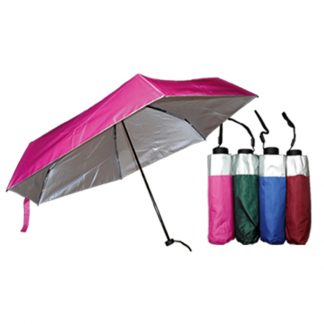 UMB0118 – 5 Folds/Section Silver Coated Manual Open Foldable Umbrella