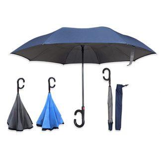 UMB0119 Auto Open Reversible Umbrella with C Handle