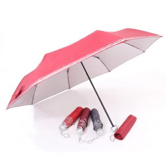 UMB0134 - UV Foldable Umbrella with Double Silver Lining Rims